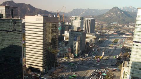Seoul City 72 Zoom Stock Video Footage