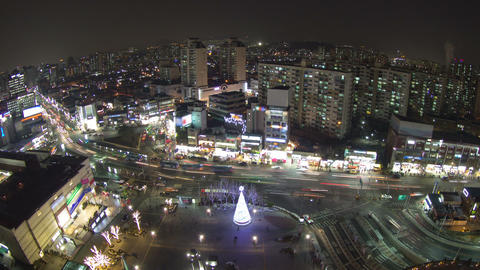 Seoul City 85 Zoom Stock Video Footage
