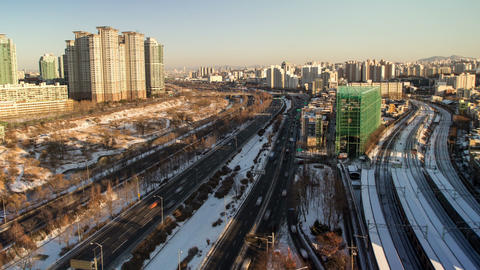 Seoul City 102 HD Stock Video Footage