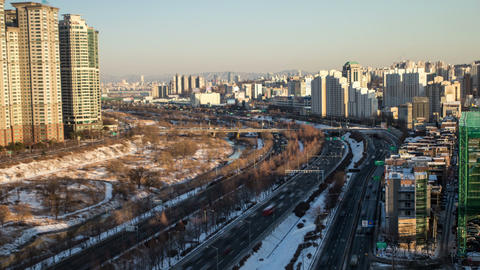 Seoul City 103 HD Stock Video Footage