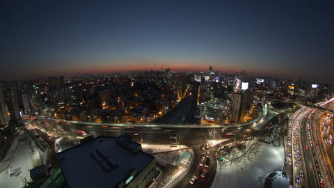Seoul City 117 HD Stock Video Footage