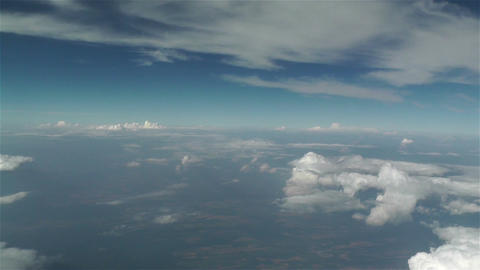 Clouds Aerial 2 stock footage