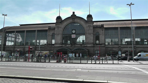 Dammtor Railway Station Hamburg Germany 1 Stock Video Footage
