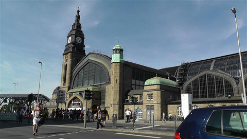 Dammtor Railway Station Hamburg Germany 3 Stock Video Footage