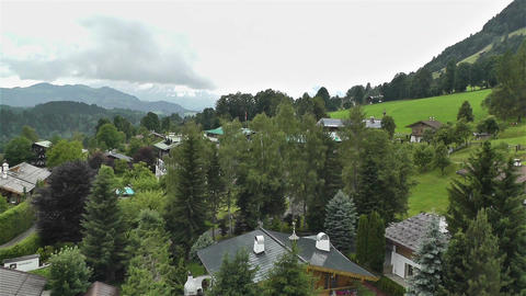 European Alps Kitzbuhel Austria Aerial 1 Stock Video Footage