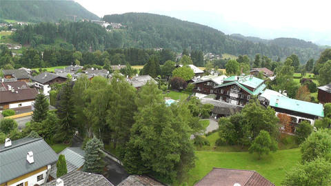 European Alps Kitzbuhel Austria Aerial 3 Stock Video Footage