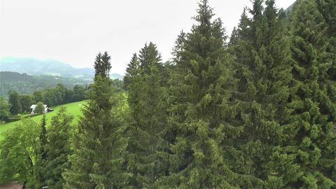 European Alps Kitzbuhel Austria Aerial 5 Stock Video Footage