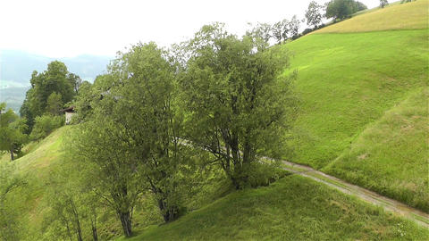 European Alps Kitzbuhel Austria Aerial 13 Stock Video Footage
