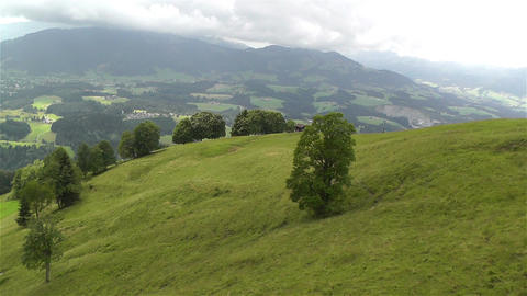 European Alps Kitzbuhel Austria Aerial 17 Stock Video Footage