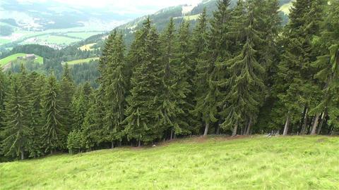 European Alps Kitzbuhel Austria Aerial 26 Footage