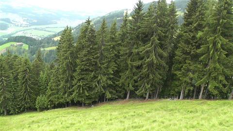 European Alps Kitzbuhel Austria Aerial 26 Stock Video Footage