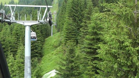 European Alps Kitzbuhel Austria Aerial 45 cable ca Footage