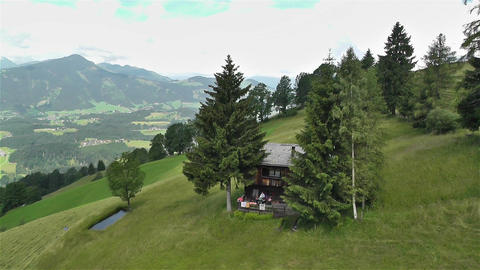European Alps Kitzbuhel Austria Aerial 65 Stock Video Footage
