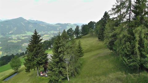European Alps Kitzbuhel Austria Aerial 65 Footage