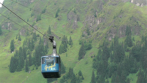 European Alps Kitzbuheler Horn Austria 2 cable car Footage