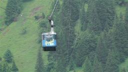 European Alps Kitzbuheler Horn Austria 3 cable car Stock Video Footage