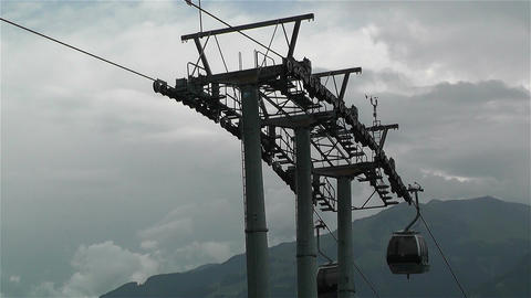European Alps Kitzbuheler Horn Austria 7 cable car Footage