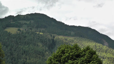 European Alps Summer Clouds Timelapse 2 Stock Video Footage
