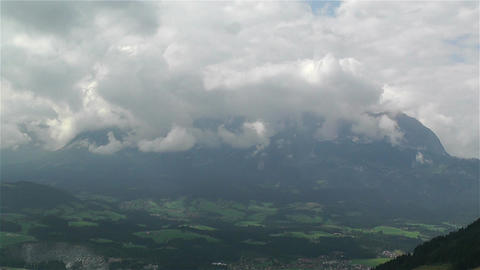European Alps Summer Clouds Timelapse 4 Footage