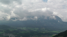 European Alps Summer Clouds Timelapse 4 Stock Video Footage