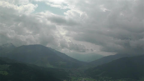 European Alps Summer Clouds Timelapse 6 Footage