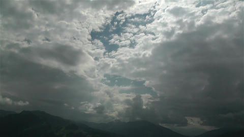 European Alps Summer Clouds Timelapse 8 Stock Video Footage