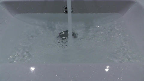 Filling Bathtube 3 Stock Video Footage
