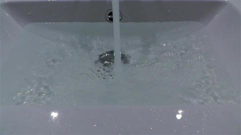 Filling Bathtube 3 Stock Video Footage