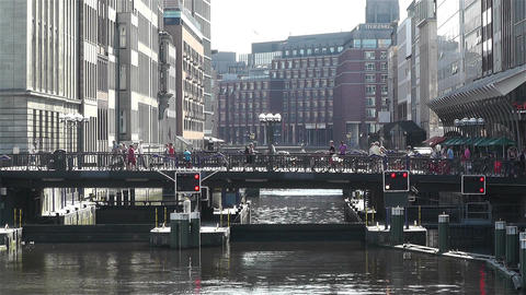 Hamburg Downtown Germany 5 kleine alster Stock Video Footage