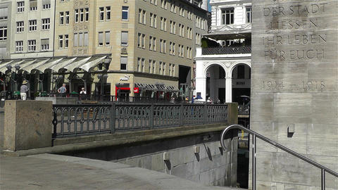 Hamburg Downtown Germany 12 Stock Video Footage