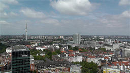 Hamburg Germany Aerial 1 Stock Video Footage