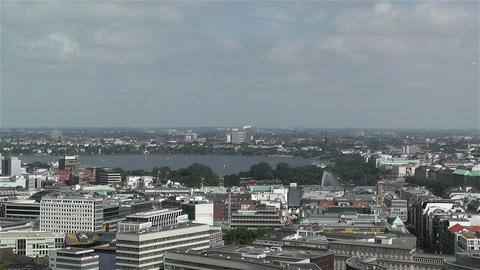 Hamburg Germany Aerial 3 heinrich hertz tower Footage