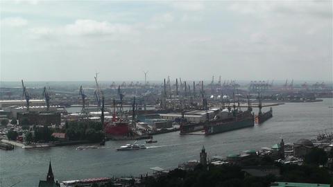 Hamburg Germany Aerial 5 port Footage