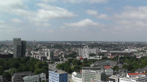 Hamburg Germany Aerial 9 Stock Video Footage
