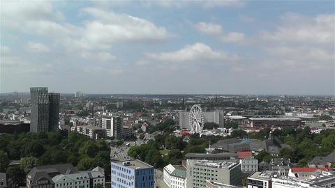 Hamburg Germany Aerial 9 Stock Video Footage