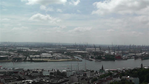 Hamburg Germany Aerial 13 port Footage