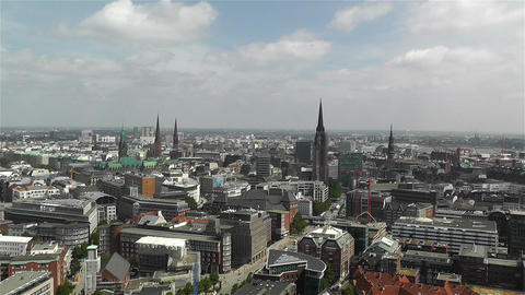 Hamburg Germany Aerial 17 Footage