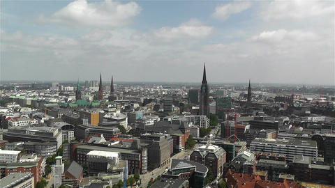 Hamburg Germany Aerial 17 Stock Video Footage