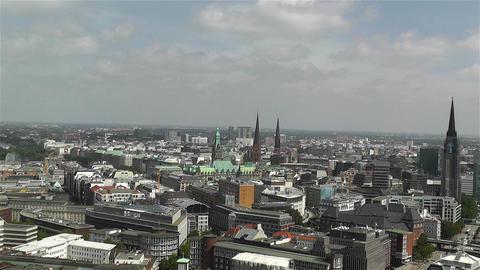 Hamburg Germany Aerial 19 Stock Video Footage