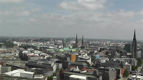 Hamburg Germany Aerial 19 Stock Video Footage