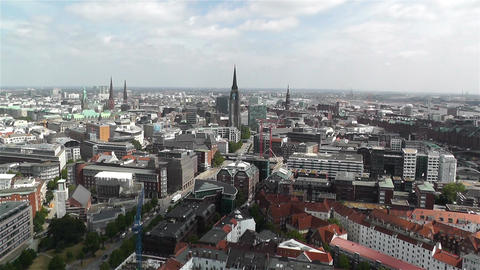 Hamburg Germany Aerial 25 Stock Video Footage