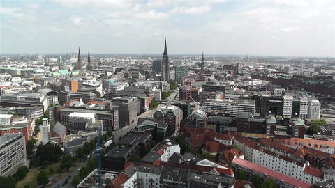 Hamburg Germany Aerial 25 Footage