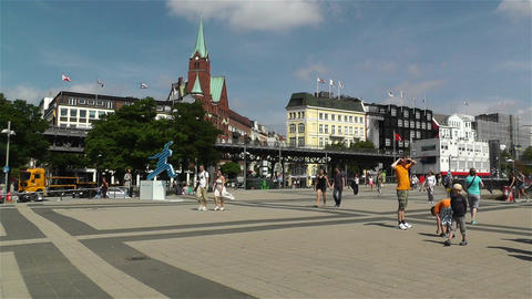 Hamburg Germany Landungsbrucken 6 Stock Video Footage