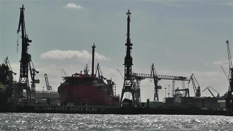Hamburg Germany Landungsbrucken 8 port Stock Video Footage