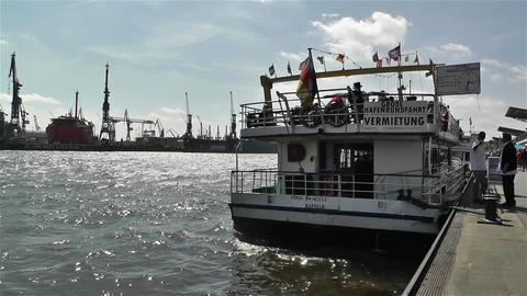 Hamburg Germany Landungsbrucken 10 port Stock Video Footage