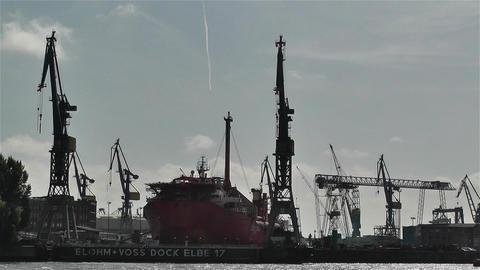 Hamburg Germany Landungsbrucken 12 port Stock Video Footage