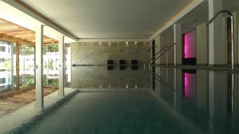 Indoor Swimming Pool 1 Stock Video Footage