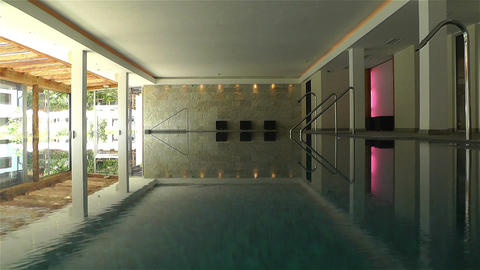 Indoor Swimming Pool 1 Stock Video Footage
