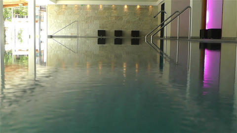 Indoor Swimming Pool 5 Stock Video Footage