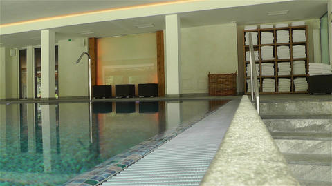 Indoor Swimming Pool 7 Stock Video Footage